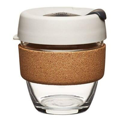 KeepCup Brew Reusuable Glass Coffee Cup Mug with Cork Band - 227ml 8oz - Filter