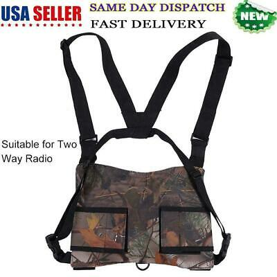 Radio Chest Harness 2-Way Walkie Talkie Holster Vest Chest Rig Pack Bag