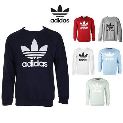 Adidas Men's Trefoil Logo Graphic Raglan Sleeve Sweatshirt Activewear