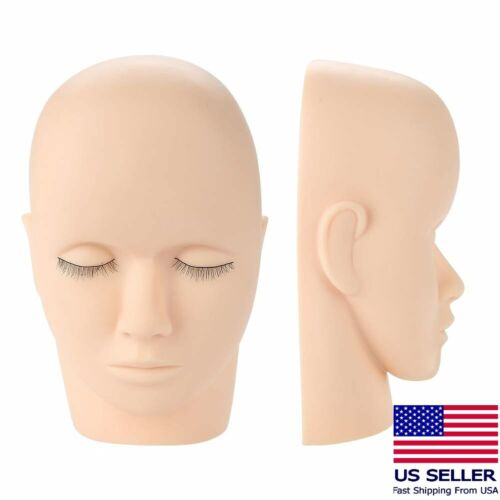 Makeup Eyelash Training Soft Rubber Mannequin Head - Cosmetology Practice Face