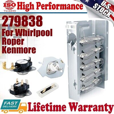 279838 Dryer Heating Element Fuse Kit 279816 3392519 For Whirlpool Roper Kenmore