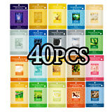 40 PCS Korean Essence Facial Mask Sheet, Moisture Face Mask Pack Skin Care Lots