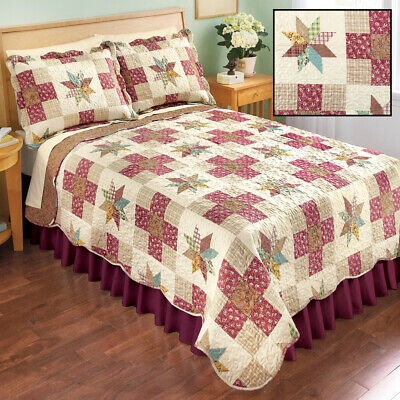 Classic Country Star Patchwork Quilt in Twin