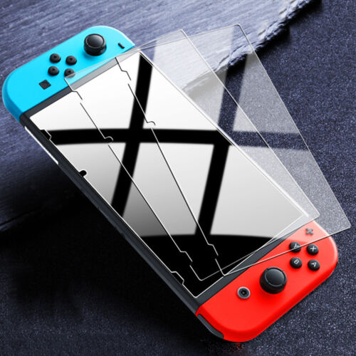 [3 Pack] For Nintendo Switch Premium 9H Tempered Glass Screen Protector Guard Screen Protectors