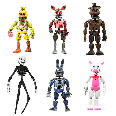 2017 New Aarrival 6Pcs Fnaf Five Nights At Freddys Action Figures Toys Kids Gif