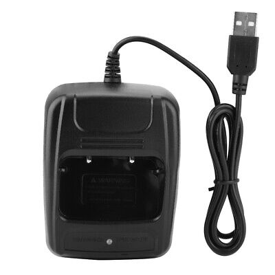 Walkie Talkies Charging Base Charger Pack With USB For BF888S/BF777S/BF666S Etc.