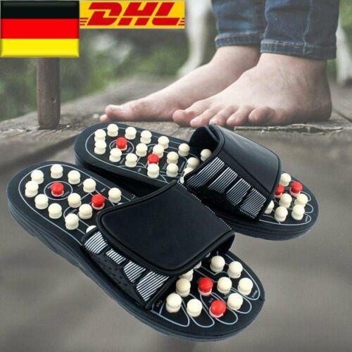 DE Massage Hausschuhe Sandalen Füße Reflexzonenmassage Akupressur Fußmassage
