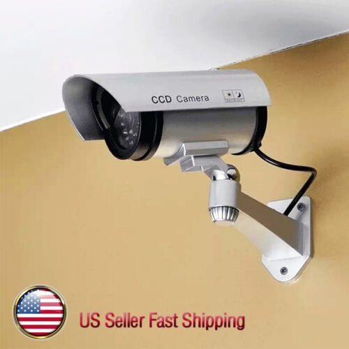 1Pcs Dummy Security Camera Fake LEDs Flashing Light Home Surveillance Waterproof