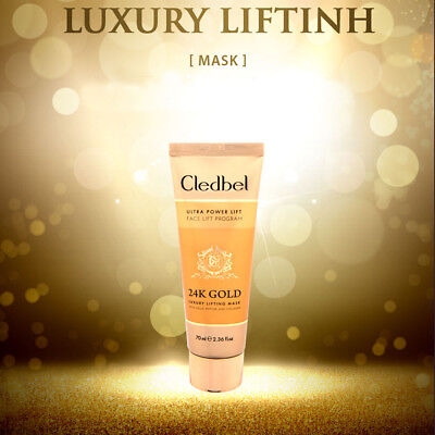 CLEDBEL Este Houses 24k Gold wrapping mask Ultra Power Lift Face Lift 70ml, used for sale  Shipping to United States