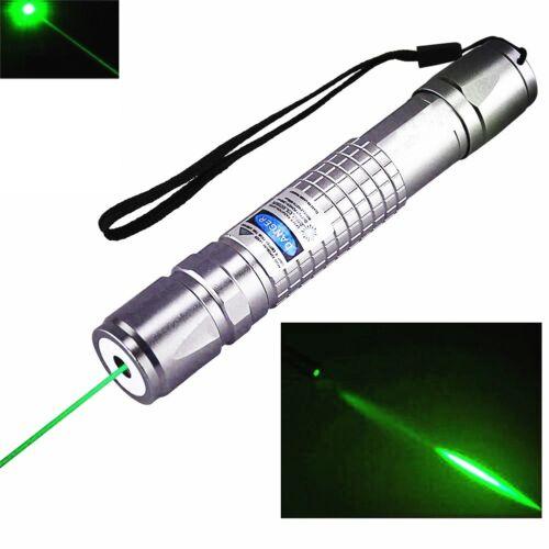 50Miles Green Laser Pointer Pen 532nm Lazer Beam Light 2x 18650 Battery +Charger