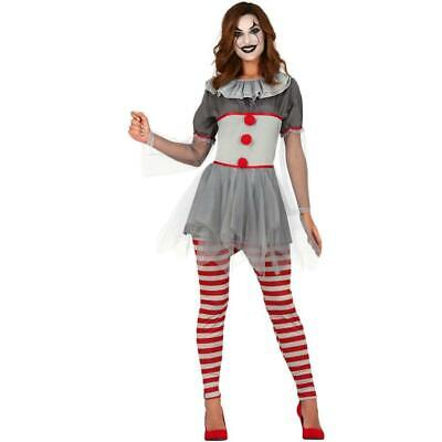 Adult Vintage Style Scary Clown Halloween Fancy Dress Costume Medium