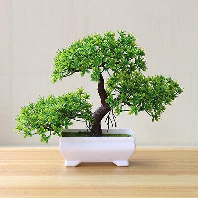 Simulation Fake Potted Bonsai Tree Artificial Plant Desk Ornament Home -