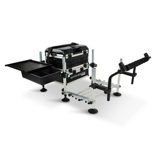 Match Station 5 Drawer BLACK EDITION Seat Box Footplate Spray Bar & Sliding Tray