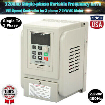2.2kw 3hp Single To 3 Phase Variable Frequency Drive Vfd Speed Controller 400hz