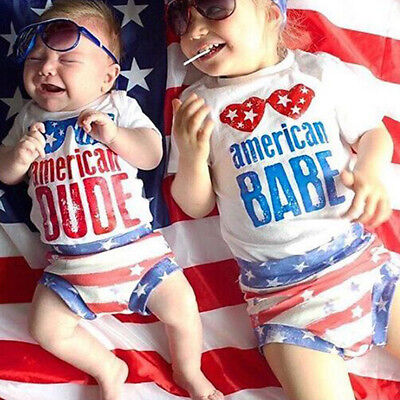 4th of July Tank Top Bottoms Stars Stripes Flag Outfit Clothes for Baby Girl - 4th Of July Outfit For Toddler Girl