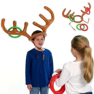 Kinder Weihnachten für Erwachsene Aufblasbar Hirsch Elch Horn Fassung Spielzeug