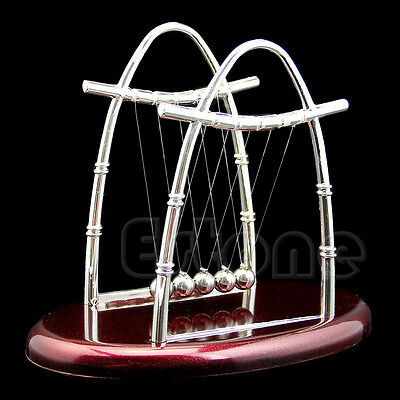 Newtons Cradle Steel Balance Ball Physics Science Accessory Gift Fun Desk Toy