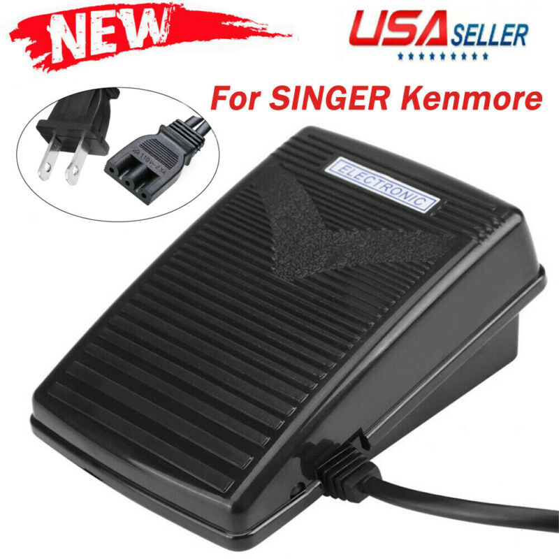 110V Electronic Sewing Foot Control Pedal For SINGER Kenmore Machine Tool Home