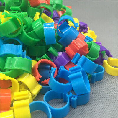 Poultry Bands Foot Ring Leg Clip For Chicken Duck Bird Pigeon Parrots 100pcs