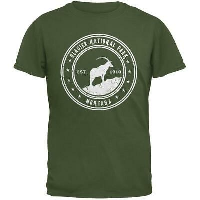 - Glacier National Park Military Green Adult T-Shirt