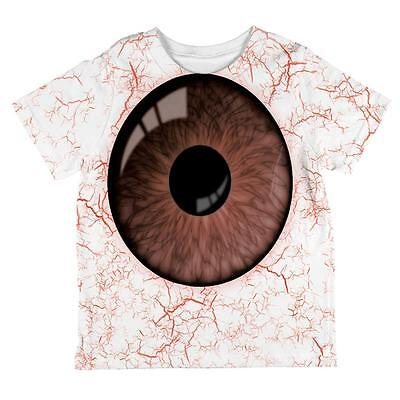 Halloween Brown Creepy Eyeball Costume All Over Toddler T - Creepy Toddler Costumes