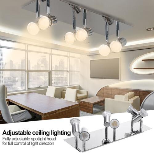 5W LED Track Light Led Rail Lamp 6 Heads Adjustable Spotligh