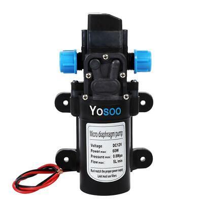 60W//100W Wasserpumpe Hochdruckpumpe Membranpumpe Automatisch 12V 115PSI//145PSI D