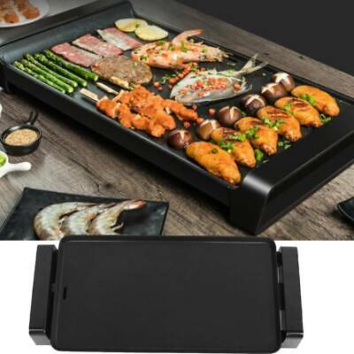 2000W Non-stick Electric Grill Griddle BBQ Hot Plate Smokeless Teppanyaki Pan