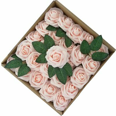 50 PCS Artificial Flower Fake Rose For Wedding Bouquet Party Decor Centerpieces  - Flower Centerpieces