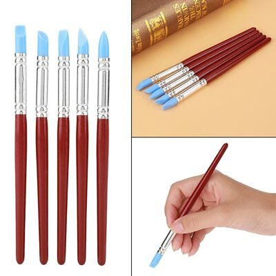 BEST 5pcs Blue Rubber Tip Paint for Clay Shaping Carving Tool Artists (Best Paint For Clay)