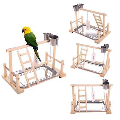 "QBLEEV Bird's Nest Stand Playground Climb Wooden Perches (bird stand(14.4""L"
