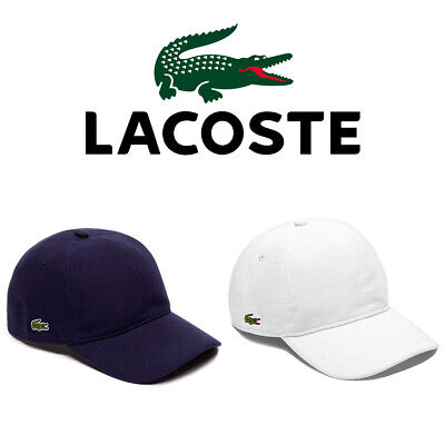 Lacoste Men's RK0123 Cotton Pique Croc Logo Baseball Hat Cap Clothing, Shoes & Accessories