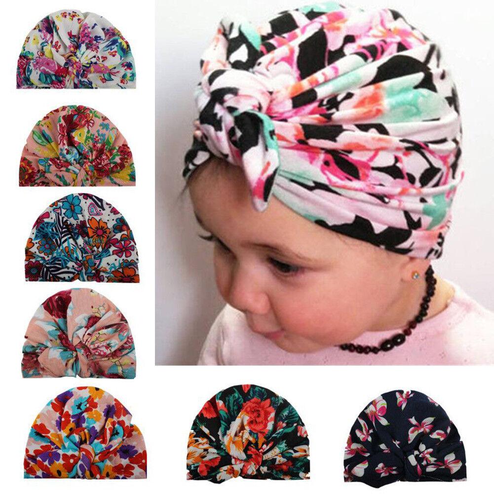 Baby Bandana Kopftuch Mütze Bowknot Blumenmust Stirnband Haarband Kopfbedeckung