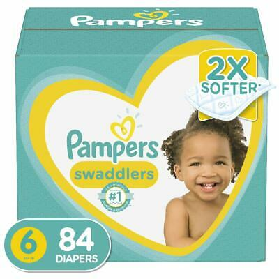 Diapers Size 6, 84 Count - Pampers Swaddlers Disposable Baby Diapers, Enormous