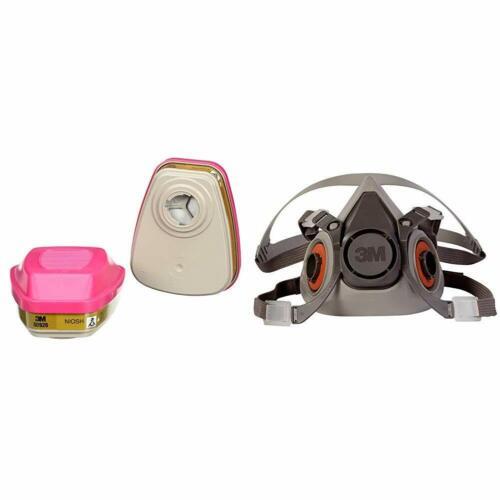 3M 6200 & 2 Each 60926 P1OO Multi Gas/Vapor Cartridge HalfFace Respirator MEDIUM