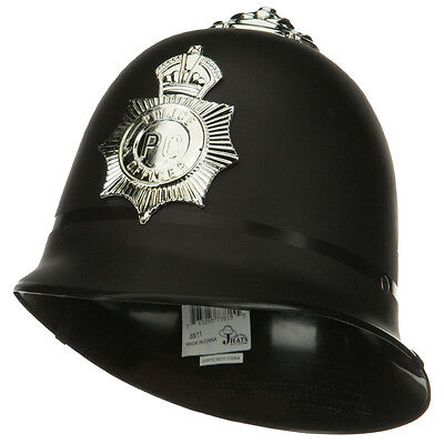 English Bobby Helmet (UK English London British Police Bobby Keystone Costume Hat Badge)