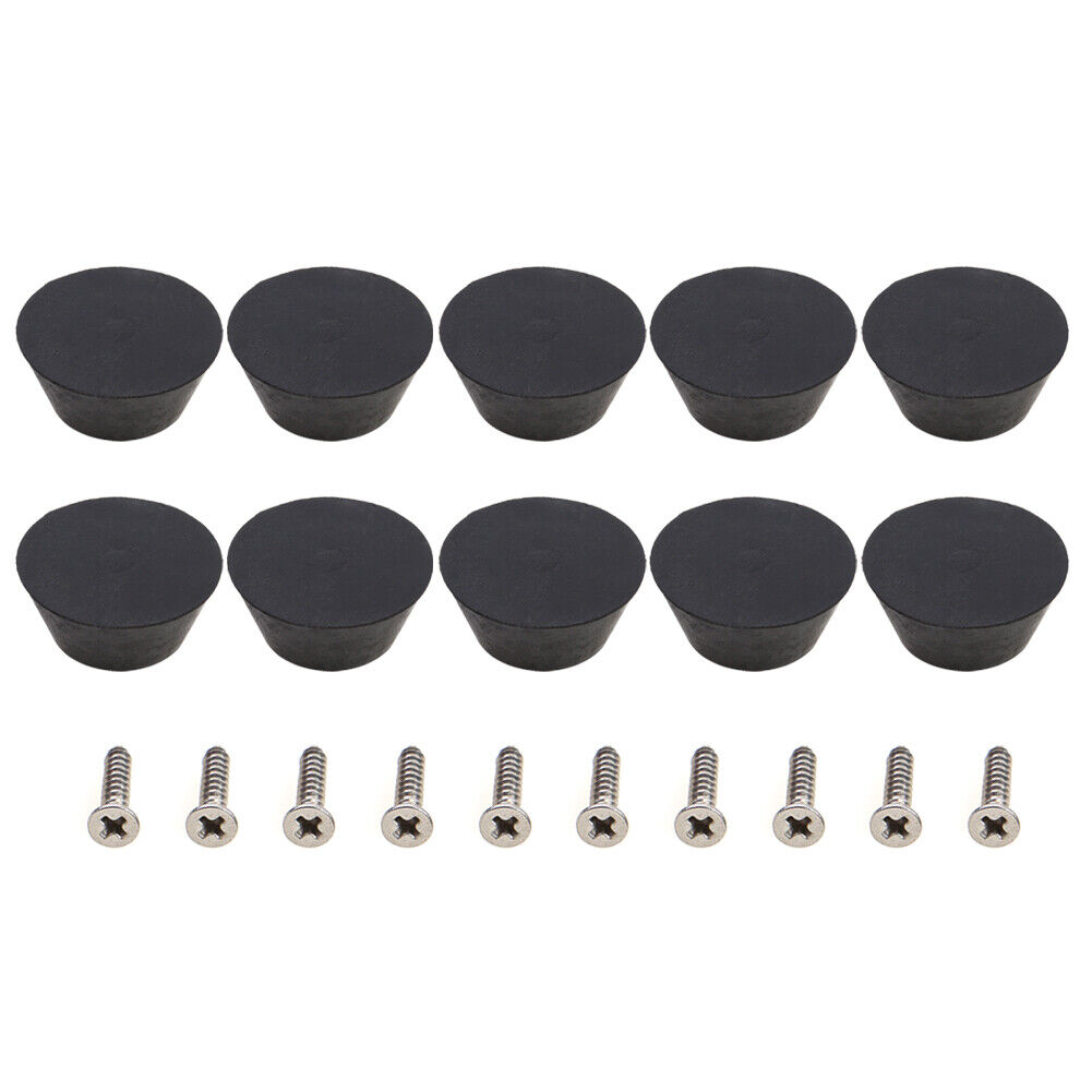10pcs Rubber Pool Cue Tip Billiard Snooker Bottom Pole Tail Protector Cover