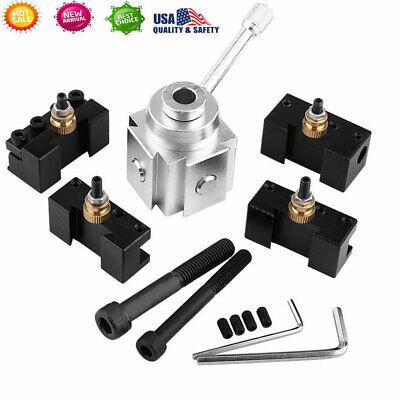 Aluminum Alloy Mini Quick Change Lathe Tool Post Holder Kit Set Usa