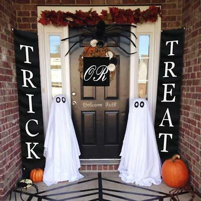 3pc Trick or Treat Halloween Banner for Indoor Outdoor Decor (12.2