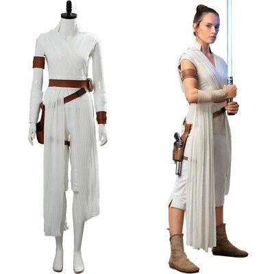 Star Wars 9 The Rise of Skywalker Rey Cosplay Costume Halloween Uniform