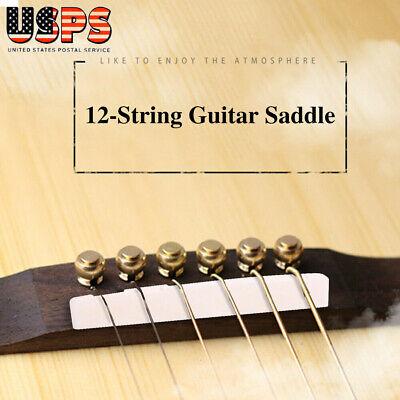 12 String Folk Acoustic Guitar Bone Bridge Saddle and Nut Instrument Accessories