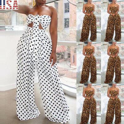 US Women 2 Piece Outfits Short Sleeve Crop Top Pants Set Casual Jumpsuit Rompers