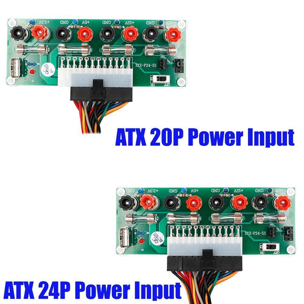 ATX 20/24Pin Benchtop Board PC Power Supply Breakout Module