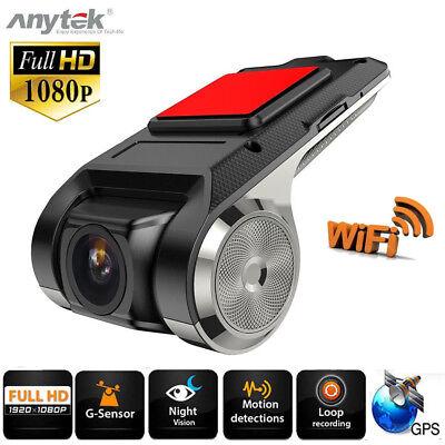FHD 1080P Cámara DVR para Coche Grabadora Video WiFi ADAS G-sensor Dash...