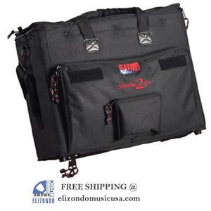 Gator GSR-2U Laptop Rack BAG and 2-Space Audio Rack UPC 716408503226