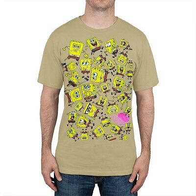 Spongebob Squarepants - Spongebob Emotions Sublimation Print Adult Mens T-Shirt](Spongebob Squarepants Adult)