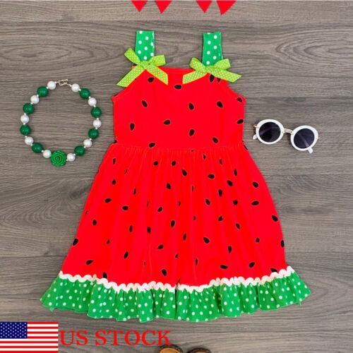 Summer Toddler Kid Baby Girls Sleeveless Clothes Watermelon