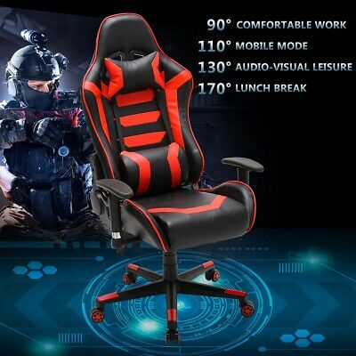 Gaming Chair Swivel Office Computer Desk Racing Ergonomic Executive Chairs Red