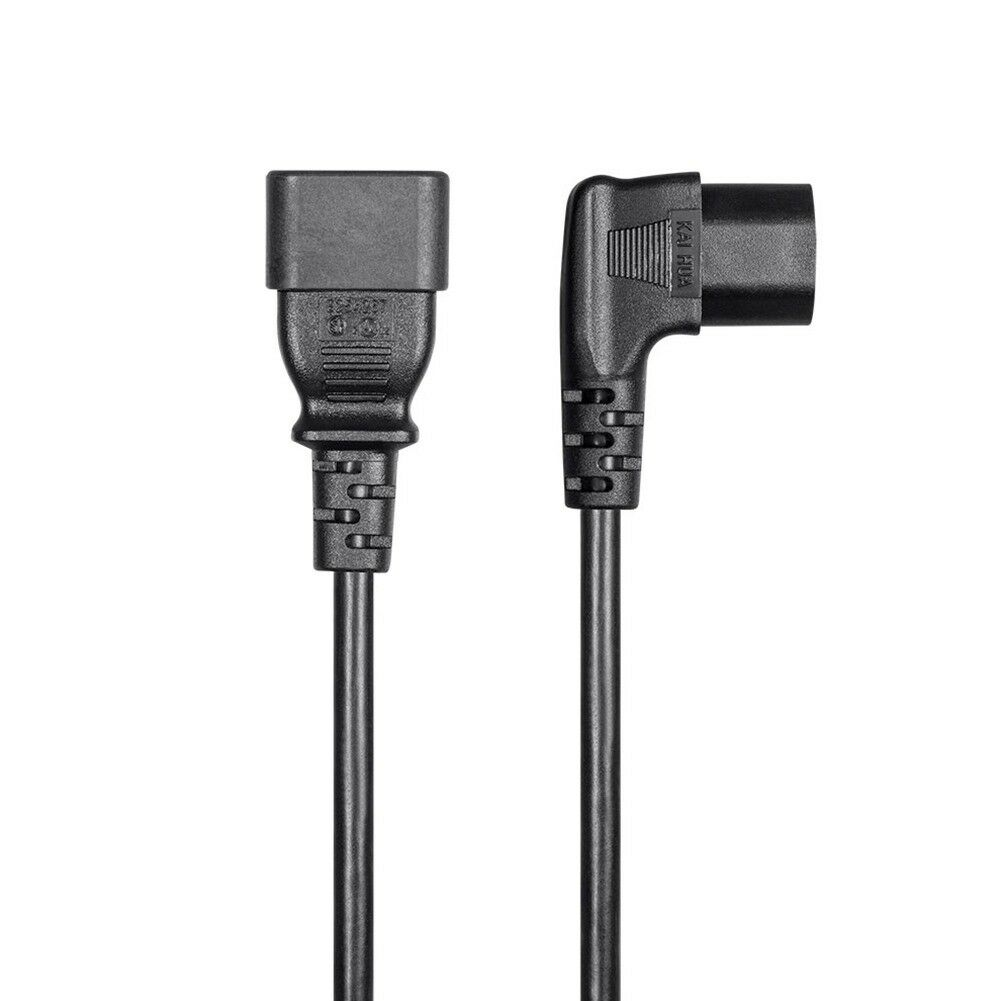2x 2FT 18//3 IEC C14 To Right Angle IEC C13 Power Extension Cord Cable PC Monitor