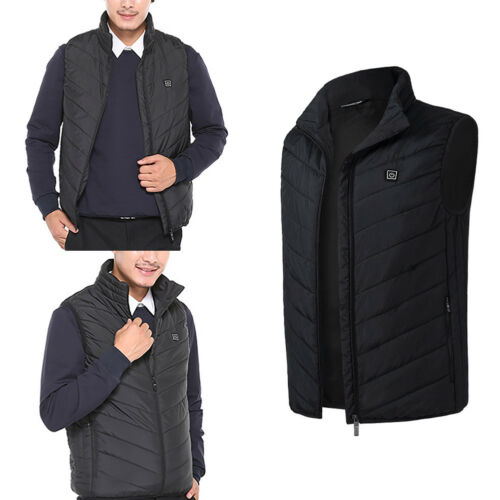 USB Electric Heated Warm Vest Men Women Winter Rechargeable